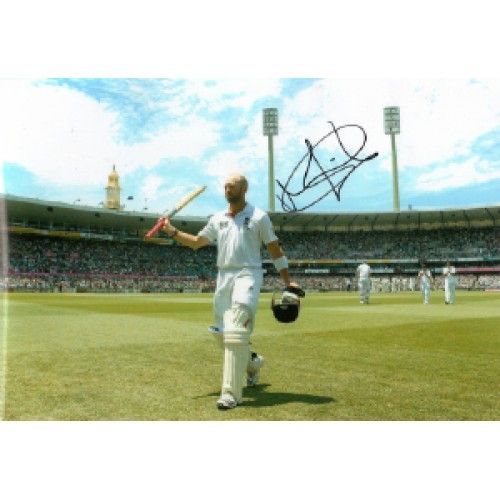 Matt Prior Signed 8x12 England Ashes Cricket Photograph