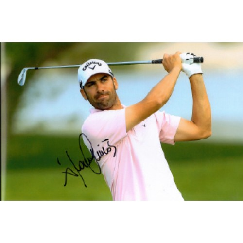 Alvaro Quiros Signed 8x12 Golf Photo!