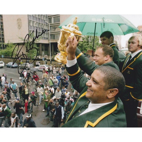 BJ Botha Signed 8x10 South African Rugby photo!