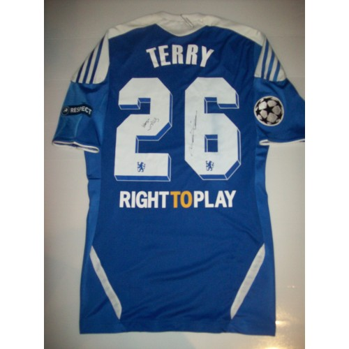 best website cd345 7d39c John Terry Signed & Match Worn / Issued 2011/12 Champions ...