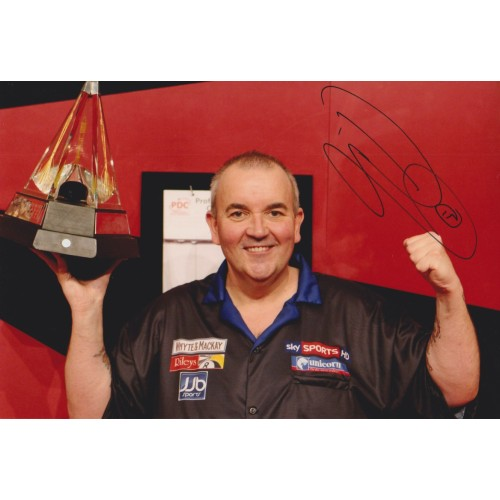 Phil 'The Power' Taylor Signed 8x12 Darts Photograph