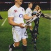 Owen Farrell Signed England Rugby 8x12 Photograph