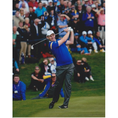 Stephen Gallacher 8x10 Signed 2014 Ryder Cup Photo