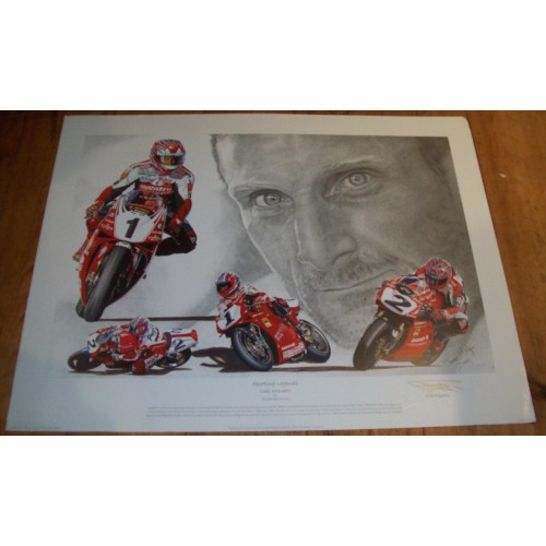 Carl Fogarty Signed 'Sporting Legends' Print