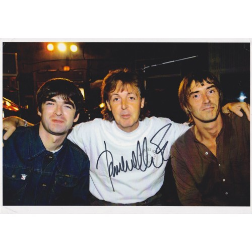 Paul Weller & Noel Gallagher  Signed 8x12 Photo