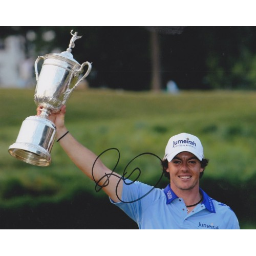 Rory Mcilroy 8x10 Signed 2011 US Open Golf Photograph