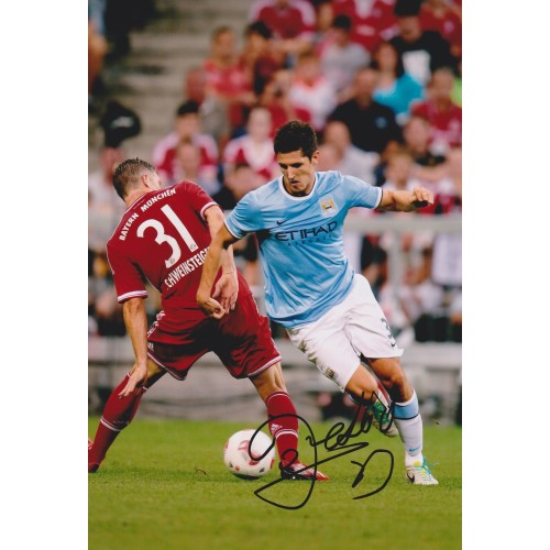 Stevan Jovetic Signed 8x12 Man City photograph