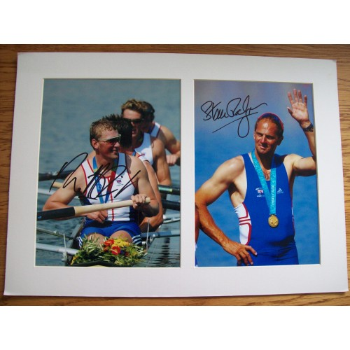 Steve Redgrave & Matthew Pinsent Signed Mounted Photographs