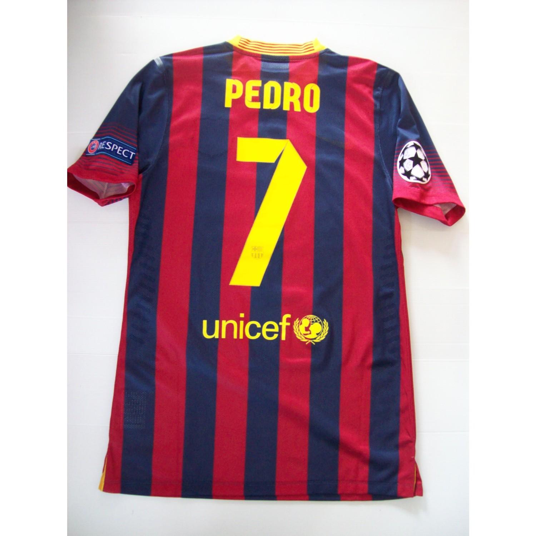 Pedro s Champions League Game Worn Squad Signed  Barcelona  Shirt ... 88d8420e2