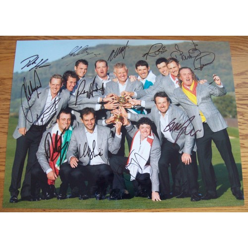 Ryder Cup 2010  Fully Signed 12x16 Photograph