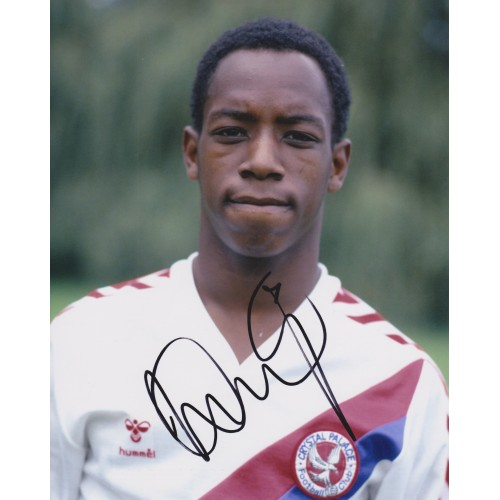 Ian Wright Signed 8x10 Crystal Palace Photograph