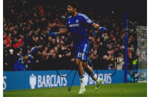 Diego Costa  Signed 8x12 Chelsea Photograph