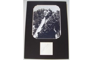 Geoff Duke (29 March 1923 – 1 May 2015) Cut Signature Mounted With Photograph