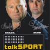 Alan Brazil & Ronnie Irani 'Talk Sport' 12x8 Signed Photograph