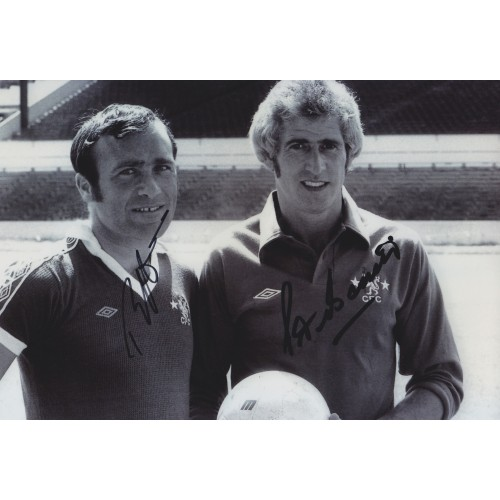Ron Harris & Peter Bonetti 8x12 Signed Chelsea Photograph