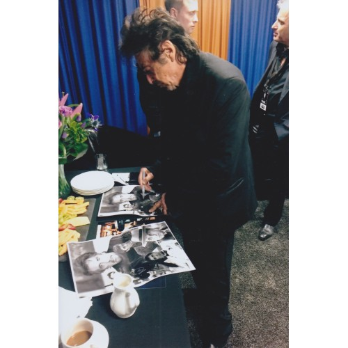 Al Pacino Framed Photo Signed At a Private Signing at Centenary Pavillion, Leeds 16th May 2015.