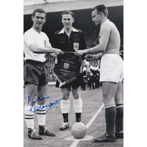 Ronnie Clayton Signed 8x12 England Photograph