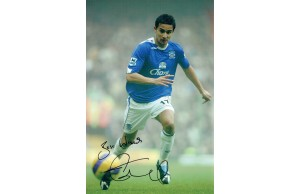 Tim Cahil 8x12 Signed Everton Photograph