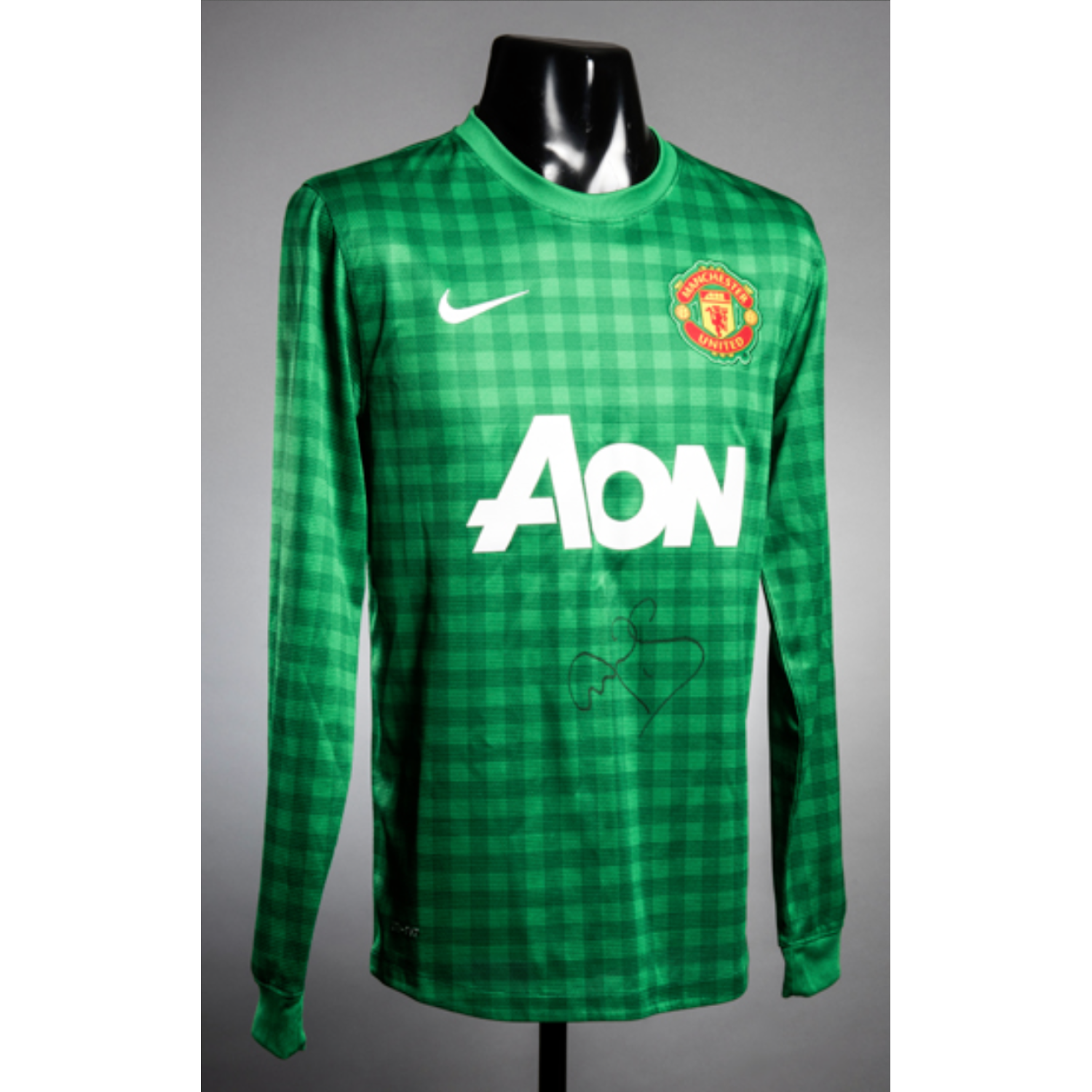 official photos 48e10 9683d Peter Schmeichle Signed Replica Manchester Utd Goalkeepers Shirt