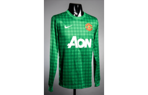 Peter Schmeichle Signed Replica Manchester Utd Goalkeepers Shirt