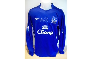 Phil Neville Signed Everton Game Worn/Issued Blue No.18 Shirt Season 2010-11