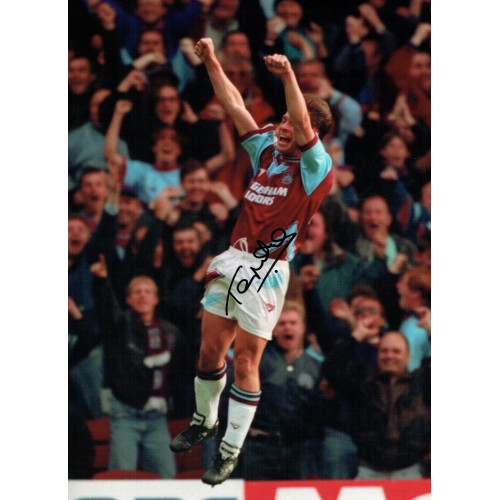 Tony Cottee 16x12 Signed West Ham Photograph