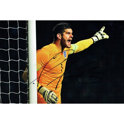 Frazer Forster Signed 10 x 8 England Football Photograph