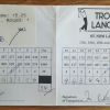 Seve Ballesteros & Ian Woosnan Tournament Signed Scorecard Marked and Signed by Both
