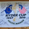Ryder Cup  2010 Celtic Manor Signed Pin Flag - Signed By All 14 European Players