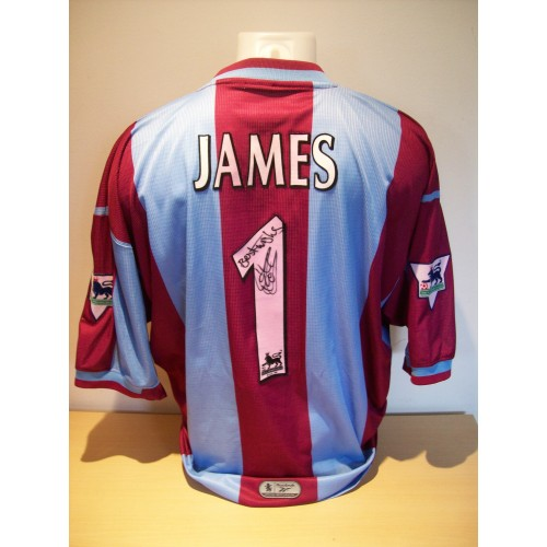 45e28914b Aston Villa Football Shirts David James Squad Signed   Peter Schmeichel  Un-signed Both Game Prepared 26203