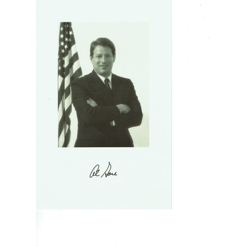 Al Gore Vice President of USA Signed 6.5 x 10 Inch High Quality Card