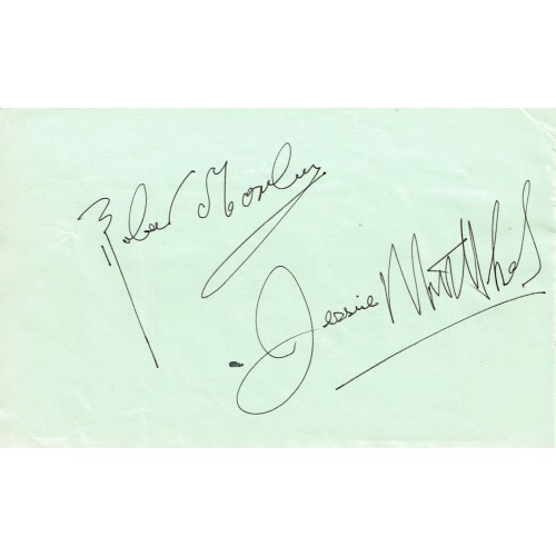 Peter Lorre (1904 –1964) Signed 3x5 Inch Piece of Paper RARE Robert Morley & Jessie Mathews on Rever