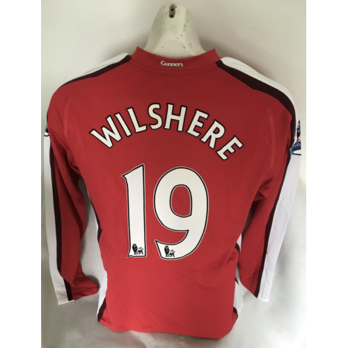 quality design b25f9 bd45b Jack Wilshere Arsenal Match Worn 2009/10 Season Home Football Shirt