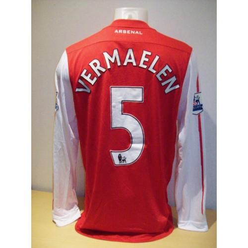 eaa399f12 Thomas Vermaelen Arsenal Match Worn 20011 12 Season Home Football Shirt  26352