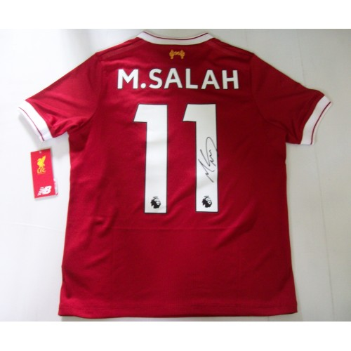 Mo Salah Signed Child Size Replica Liverpool Home Football Shirt