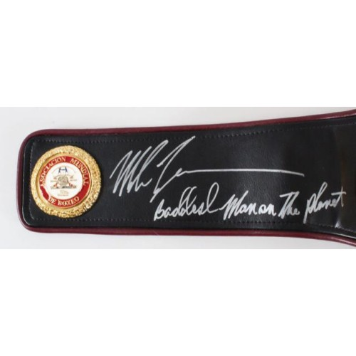 Cassius Clay, Mike Tyson & Floyd Mayweather Signed Authenticated WBA Boxing Belt Very Rare