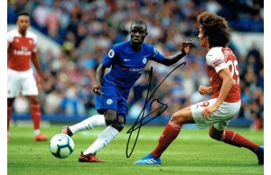 N'Golo Kante 12x8 Signed Photo Playing for Chelsea v Arsenal