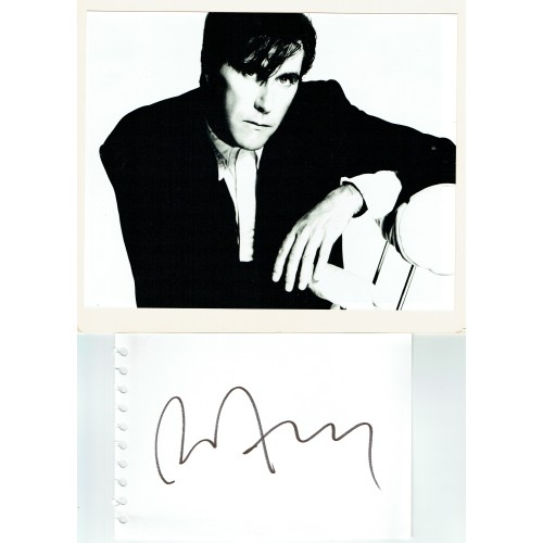 Bryan Ferry Signed Large Album Page & 8x10 Photograph