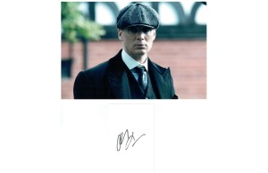 Cillian Murphy Thomas Shelby Peaky Blinders Signed Card & Photograph