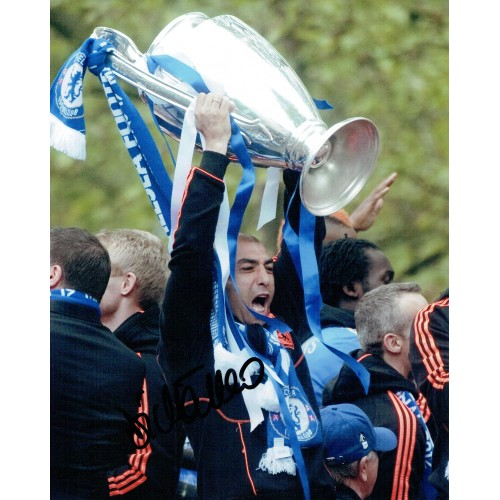 Roberto Di Matteo Signed 8x10 Champions League Photo