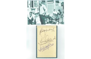 Bobby Moore, Jimmy Greaves & Ian Callaghan Signed Autograph Album Page