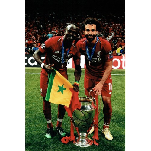 Sadio Mane Signed 2019 Champions League Winners Liverpool 8x12 Photograph