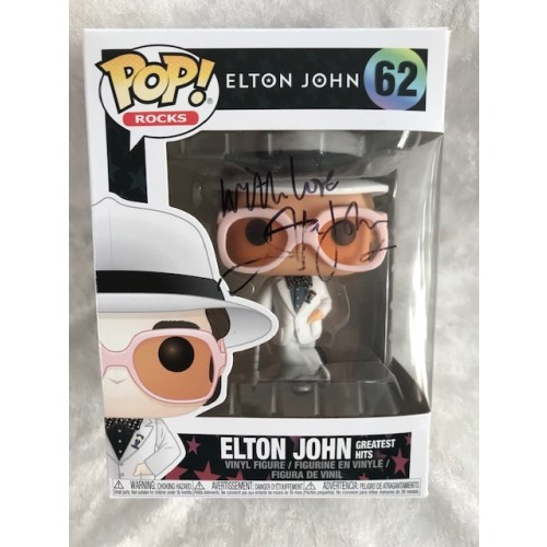 Elton John Signed Funko POP ROCKS Toy Signed On Box RARE