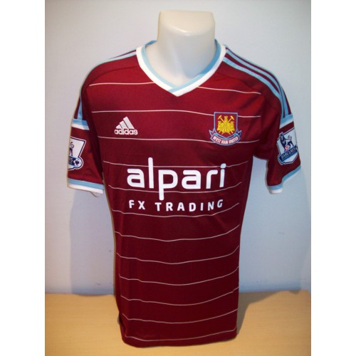 Mark Noble Match Worn West Ham United 2014/15 Season Home Shirt