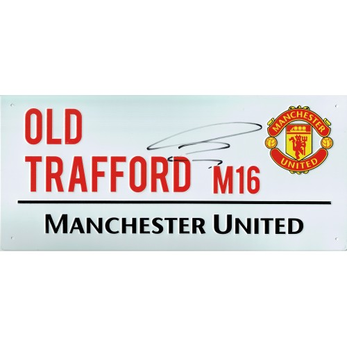 Alexis Sanchez Signed Old Trafford M16 Manchester Utd Commemorative Street Sign
