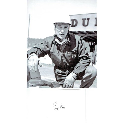 Sterling Moss Autograph a Signed Page Together With an 8x10 Photograph