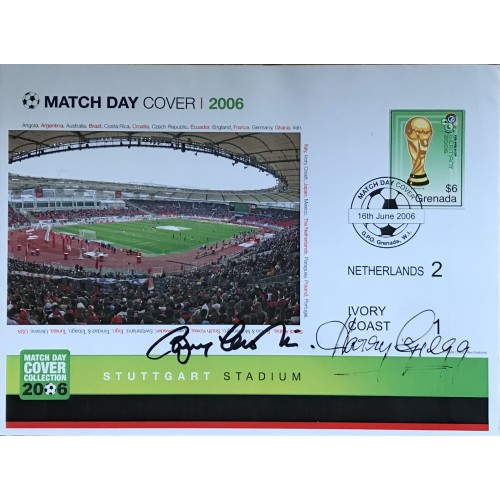 Bobby Charlton & Harry Gregg Signed England World Cup 2006 Signed Match Day Cover 2006