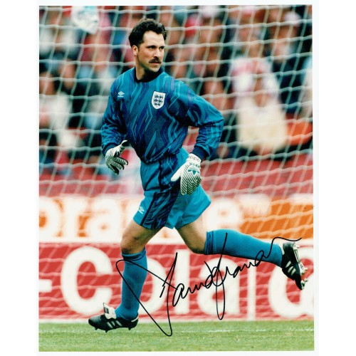 David Seaman Signed 10 x 8 inch England Football Photograph