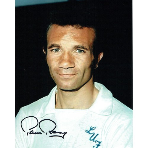 Paul Reaney Signed Leeds United 10 x 8 inch Football Photograph