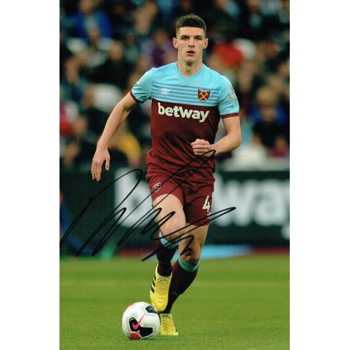 Declan Rice Signed 12x8 Inch  West Ham United  Football Photograph